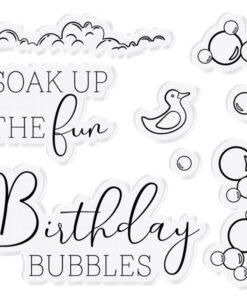 Stamp & Die Set - Pop out scene - Enjoy the Bubbles
