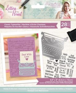Letters from The Heart - Stamp & Die - Classic Typewriter