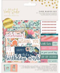 Violet Studio - Card Making Kit - Birthday - Florals