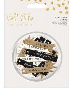 Violet Studio - Mini Tags - Neutral