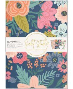 Violet Studio - A5 Notebook Pack - Florals - 3pk