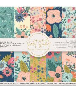 Violet Studio - Paperpad Florals - 15x15 cm