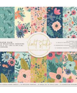 Violet Studio - Paperpad Florals - 30x30 cm