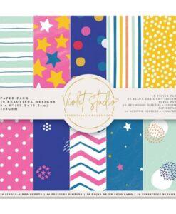 Violet Studio - Paperpad Spots & Stripes - 15x15 cm