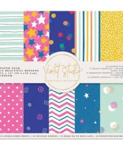 Violet Studio - Paperpad Spots & Stripes - 30x30 cm