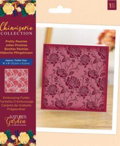 Chinoiserie - Embossing Folder - Pretty Peonies