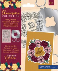 Chinoiserie - Stamp & Die - Peony Wreath